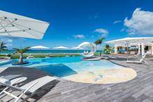 Location villa Saint Martin - C'est la vie - Piscine et vue mer