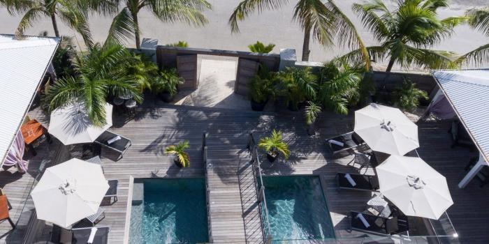 Sol E Luna - Vue aérienne piscine