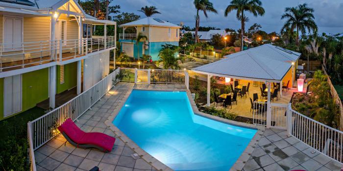 Majesty Palm à St François en Guadeloupe - Vue d'ensemble