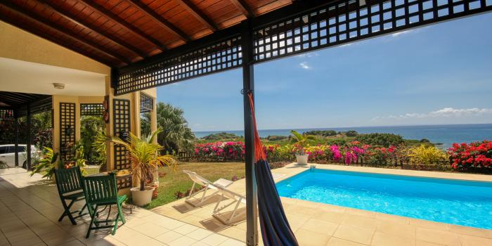Villa à louer avec vue Mer - Piscine et Vue Mer pour 6 personnes au Gosier