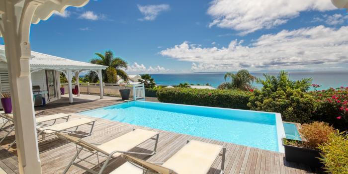 Villa vue mer 180° à louer en Guadeloupe - Vue mer