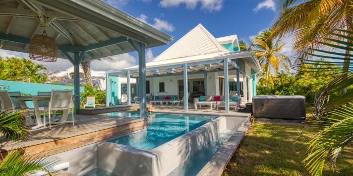 Location villa 4 chambres proximité plage vue mer à St François Guadeloupe