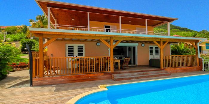 Location villa Martinique - Vue de face