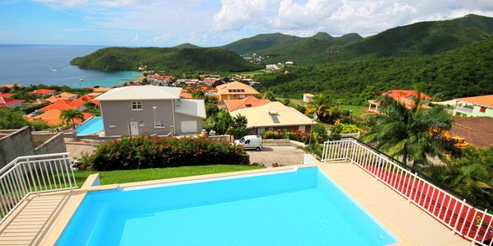 Location villa standing Martinique Vue panoramique