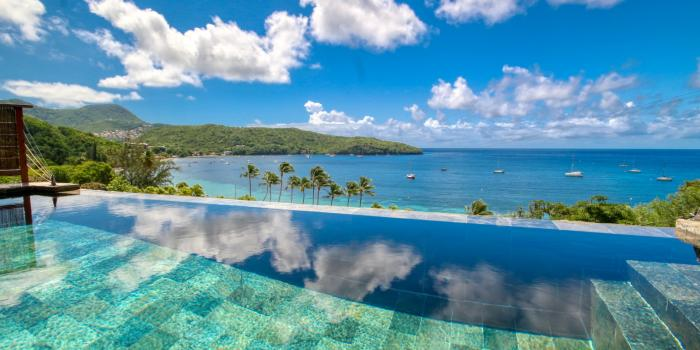 location villa de luxe martinique grande anse vue mer piscine 12 personnes
