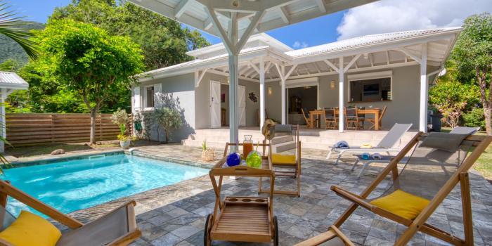 location villa martinique accès direct plage