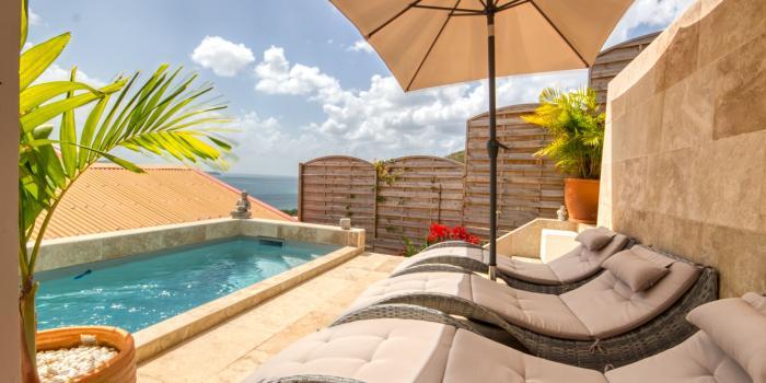 MQDI15 - Villa de standing avec piscine belle vue mer au Marin Martinique