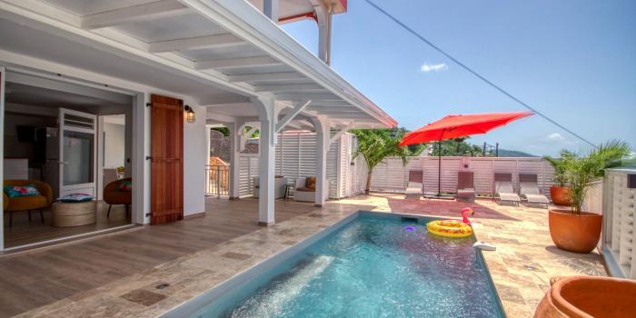 location villa Martinique 6 personnes au Marin avec piscine - vue extérieure