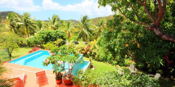 Location villa Martinique - Sainte Anne - Terrasse et piscine