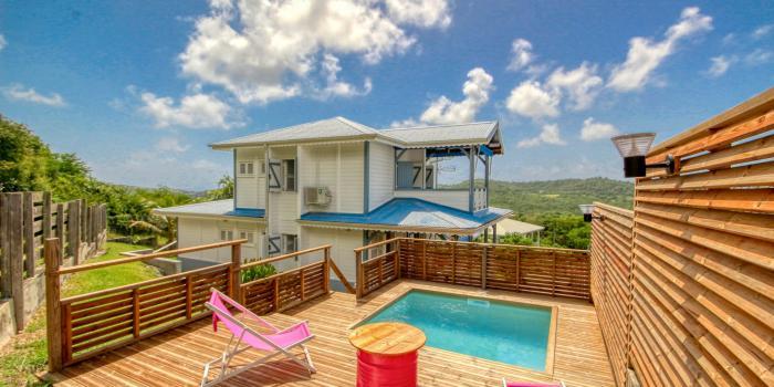 location maison Martinique Sainte Anne 6 personnes avec piscine
