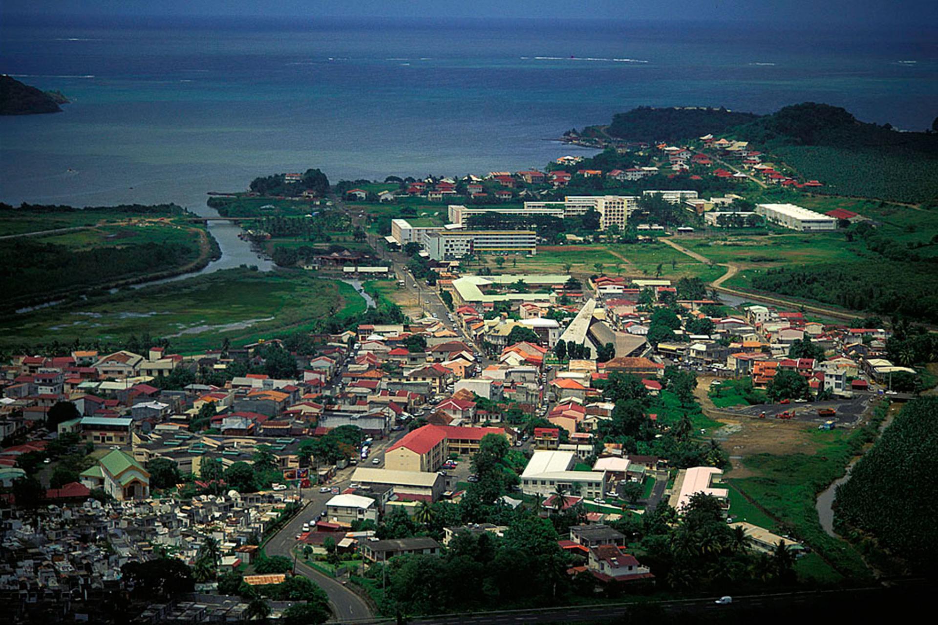 Vue aérienne de la commune du François
