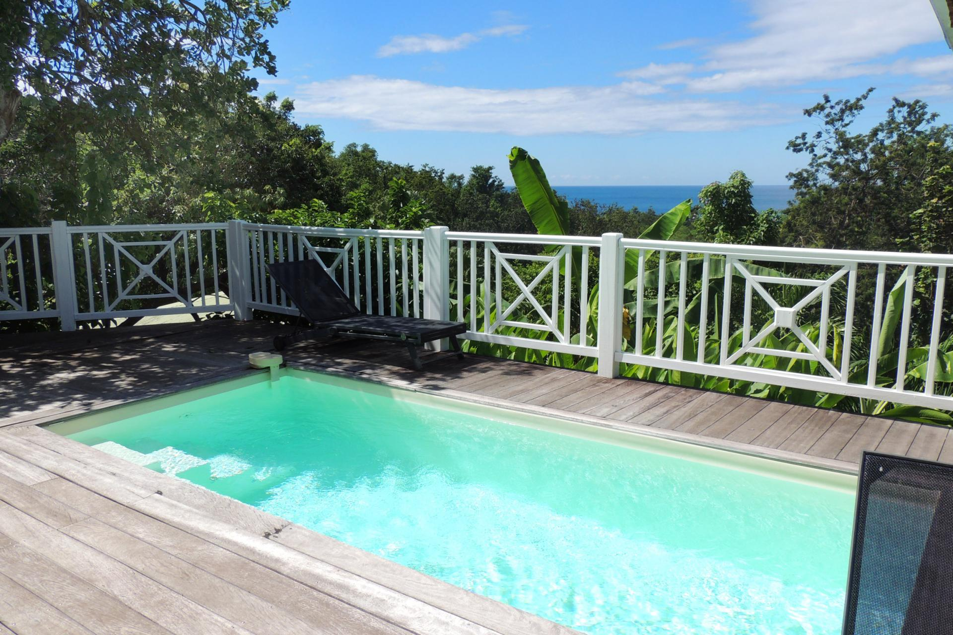 Location Villa Vue Mer Deshaies - la piscine