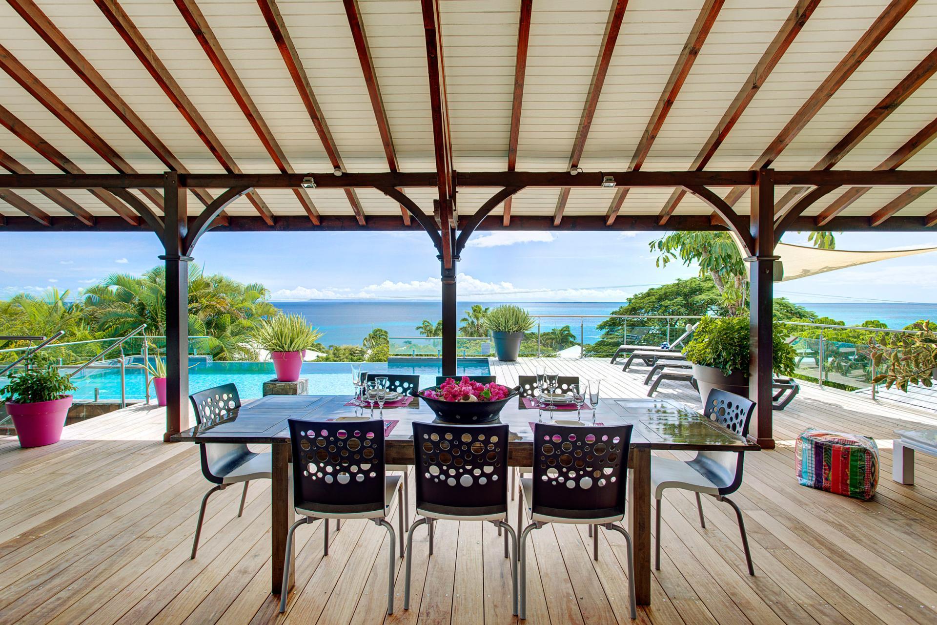 Villa de prestige vue mer avec piscine en Guadeloupe - Vue Mer