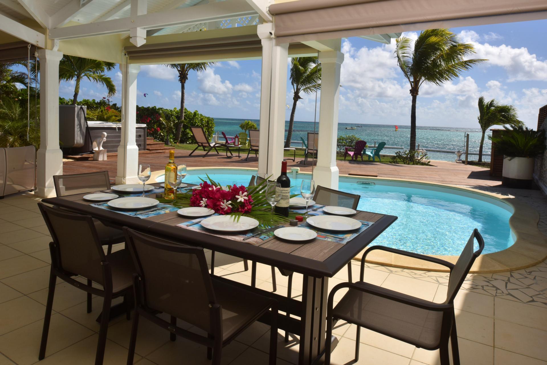 Location villa luxe Guadeloupe - Vue mer