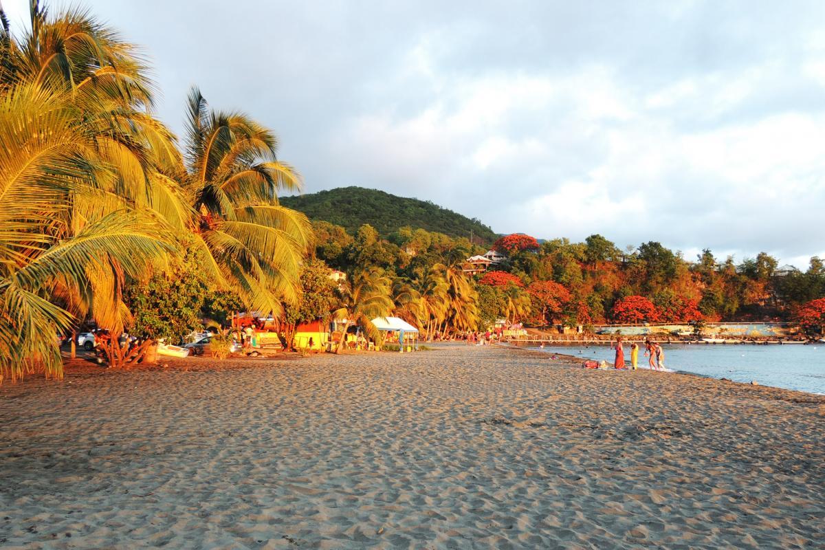 Coucher de soleil plage de Malendure