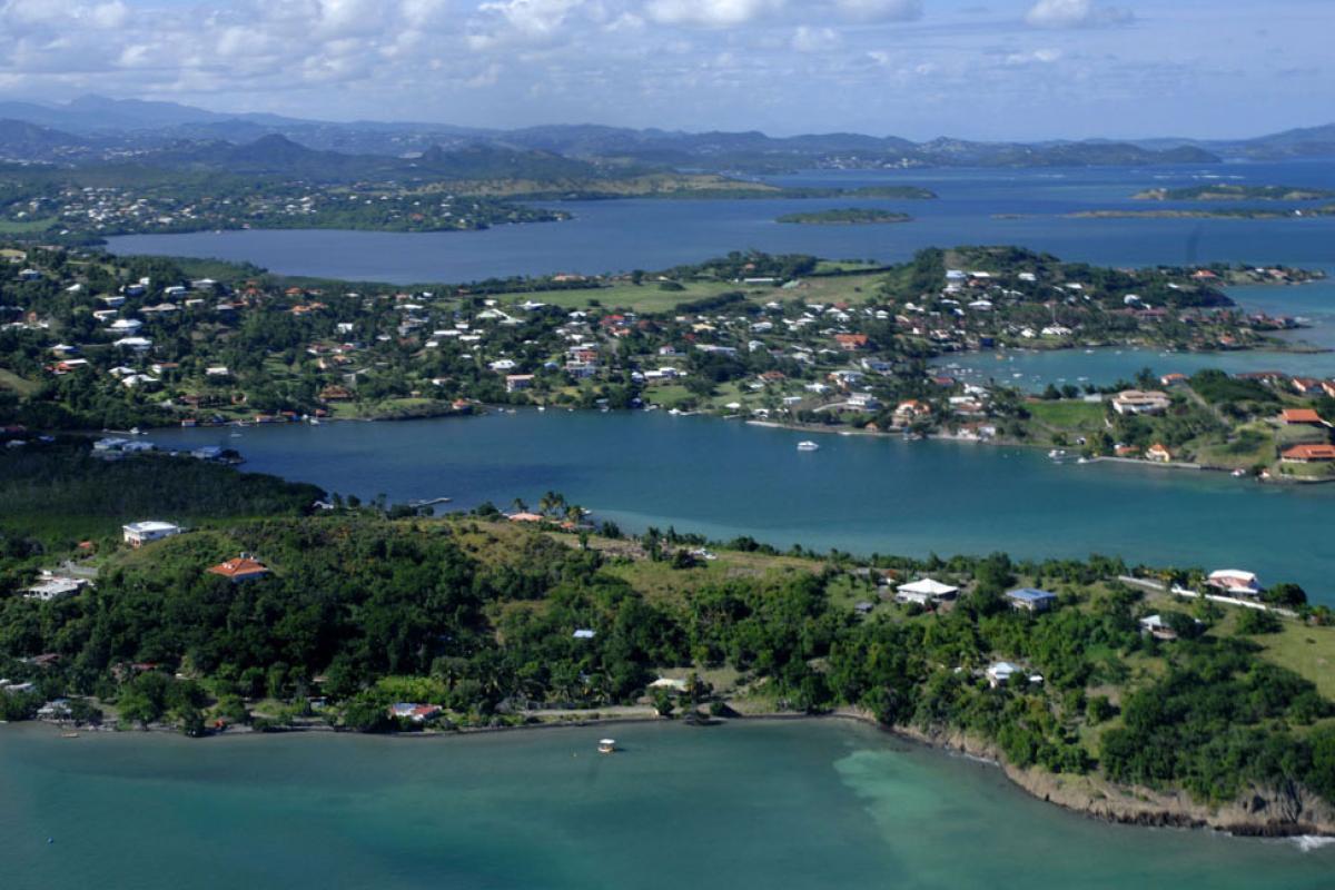Vue aérienne de la baie du François