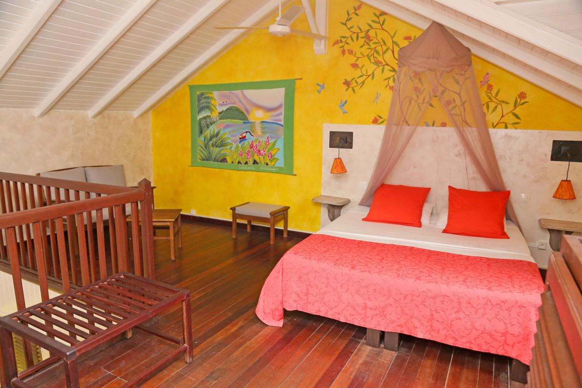 Photo Caraïb' Bay Hotel - Hotel de charme Guadeloupe - Bungalow Duplex Chambre Mezzanine