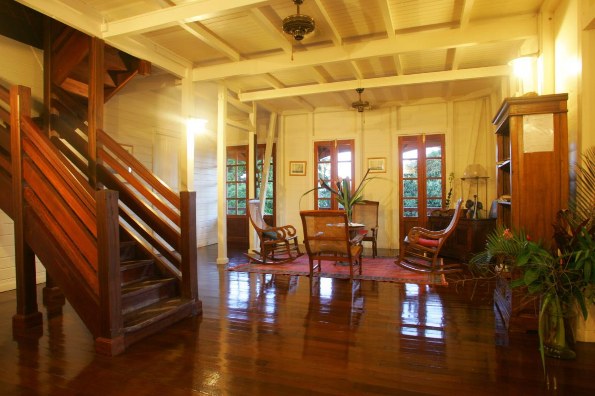 Le Jardin Malanga Guadeloupe - Interieur habitation coloniale