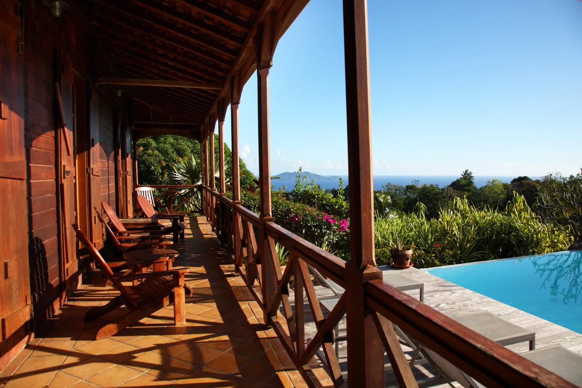 Le Jardin Malanga Guadeloupe - Photo hotel de charme - Vue des terrasses
