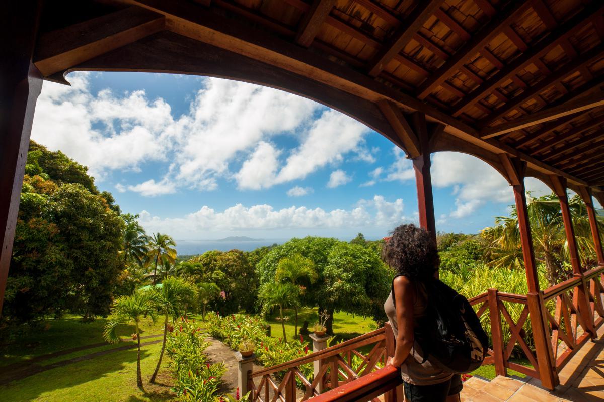 Le Jardin Malanga Guadeloupe - Terrasse vue jardin et mer