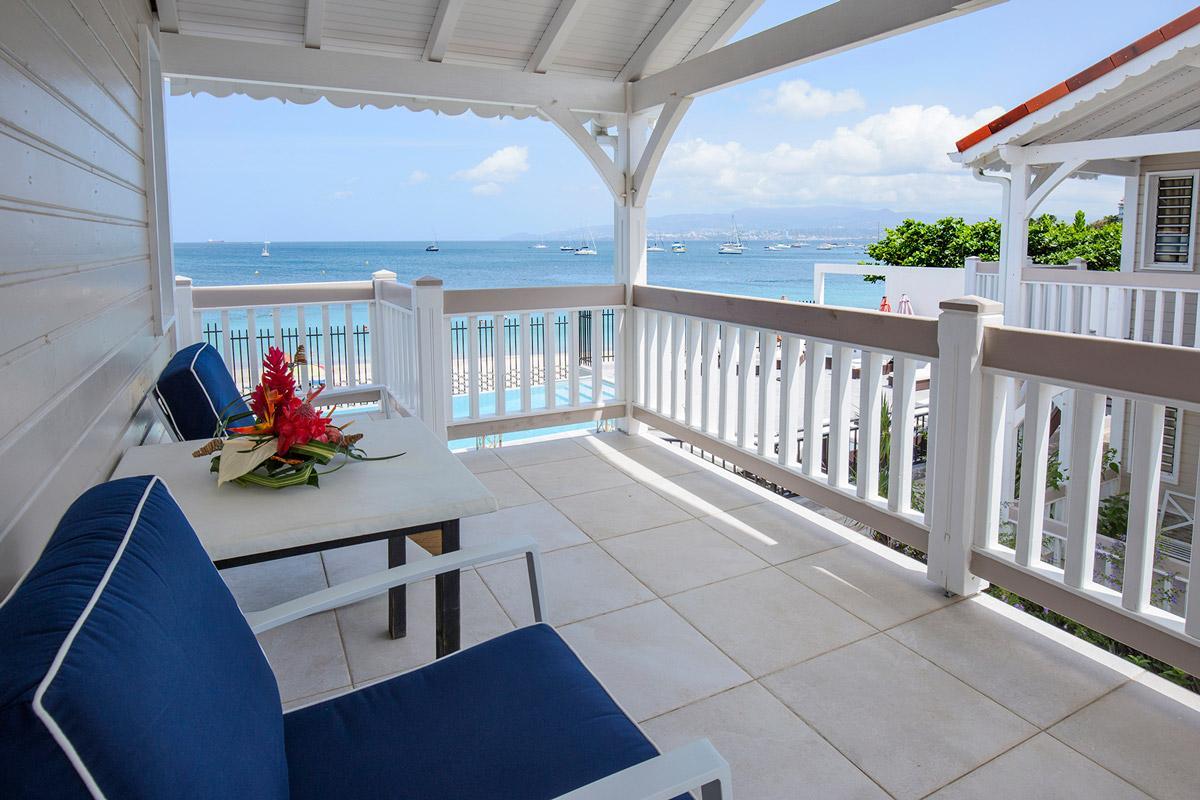 Hotel Bambou - Balcon vue mer mini suites et chambres supérieures