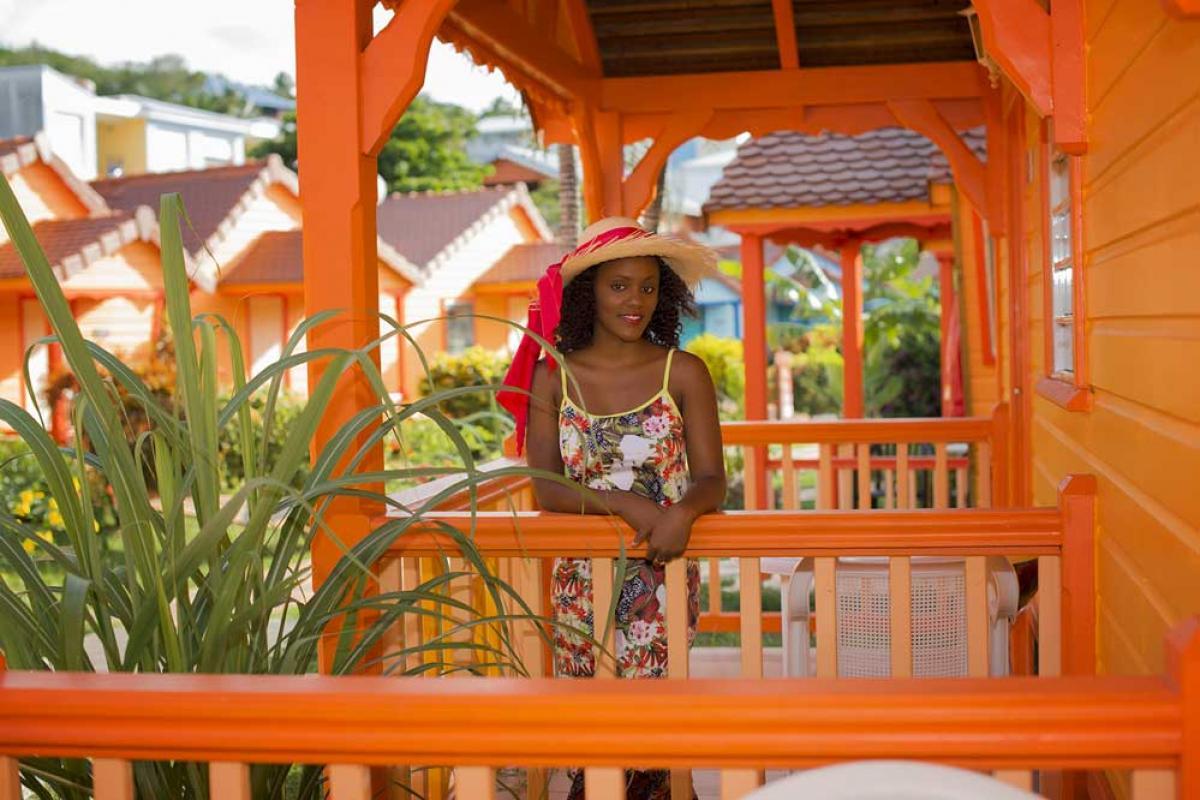 Hotel Bambou Trois Ilet - Bungalow orange