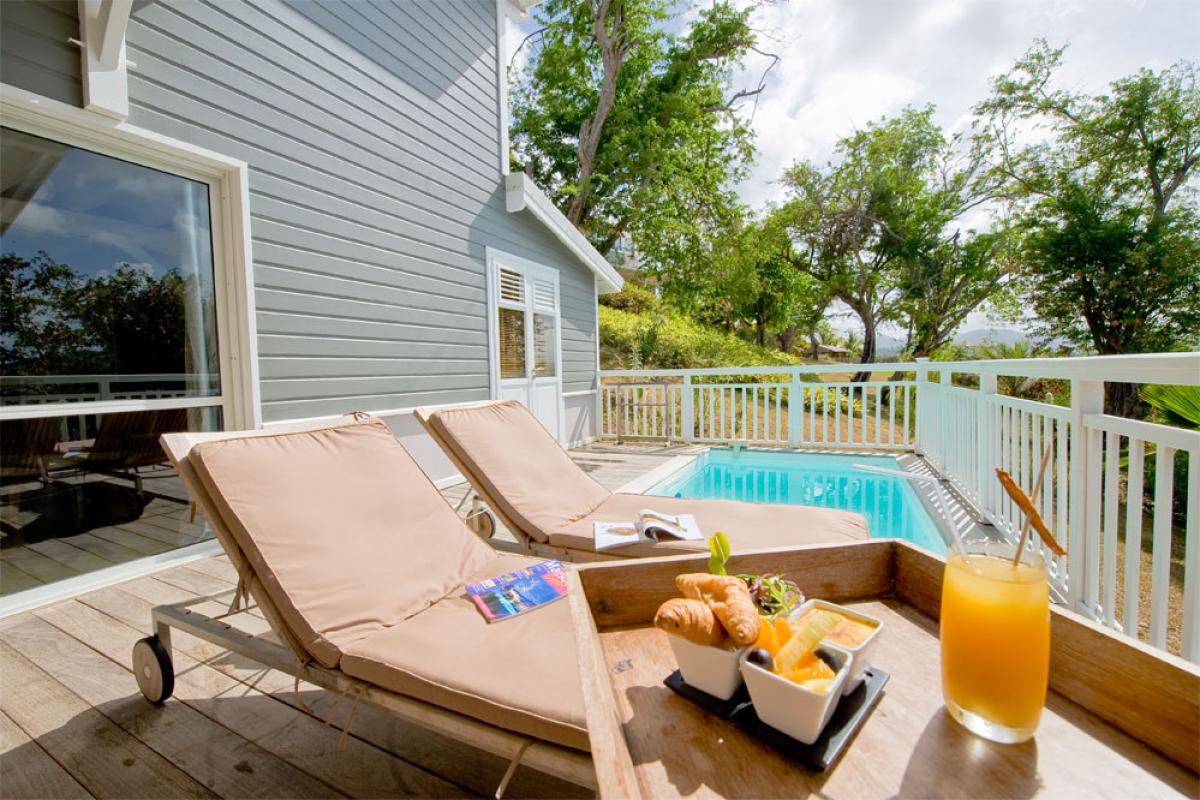 Terrasse et piscine duplex