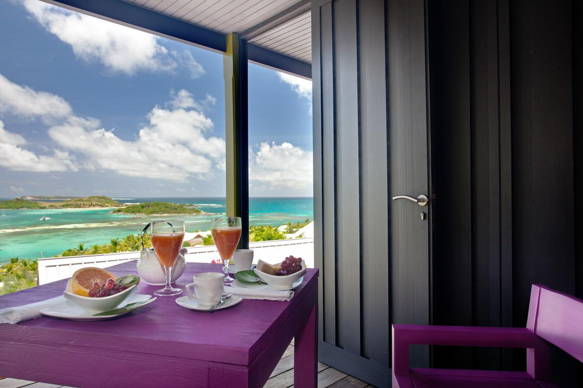 Hotel Karibuni Lodge - Petit déjeuner vue mer Suite Exclusive