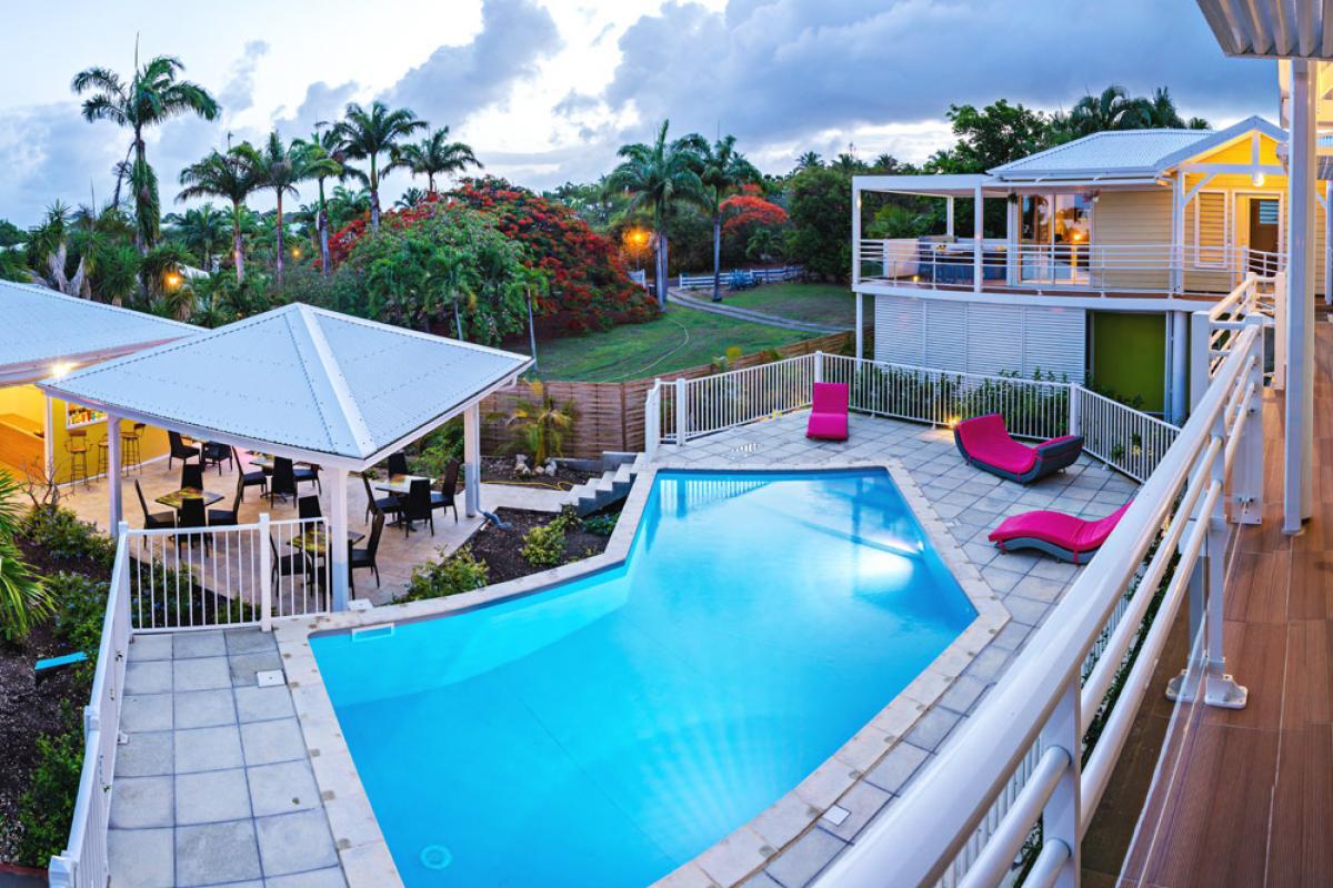 Majesty Palm à St François en Guadeloupe