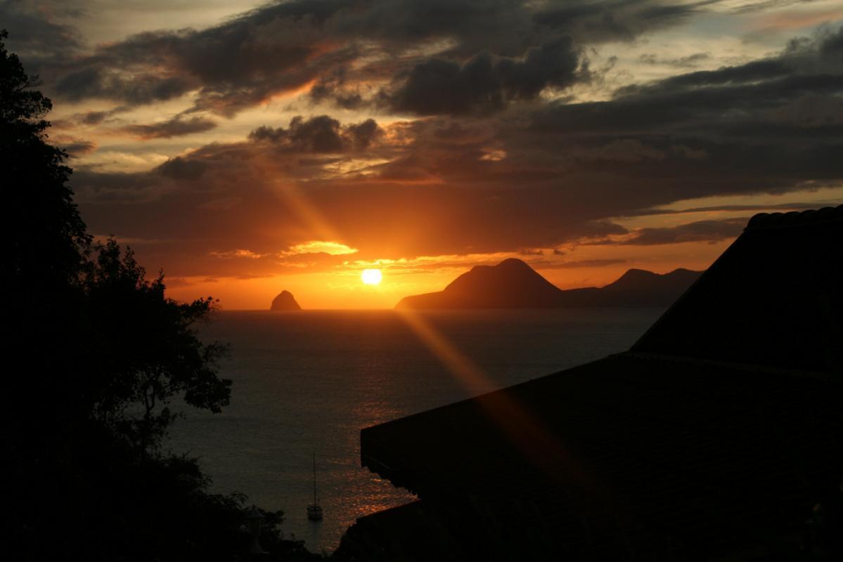 Coucher de soleil depuis Anoli village