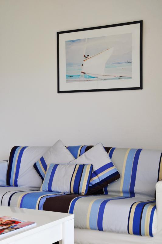 Bleu Emeraude - Salon appartement 1 chambre