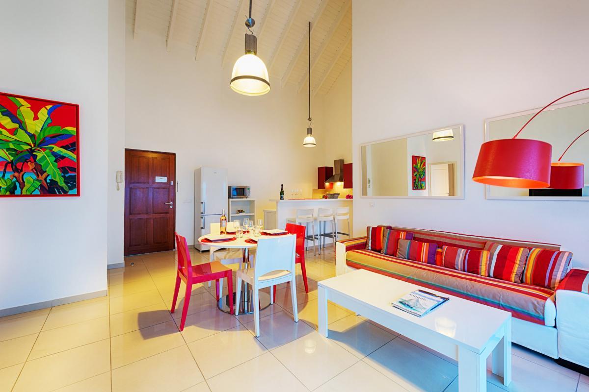 Bleu Emeraude - Séjour appartement 2 chambres