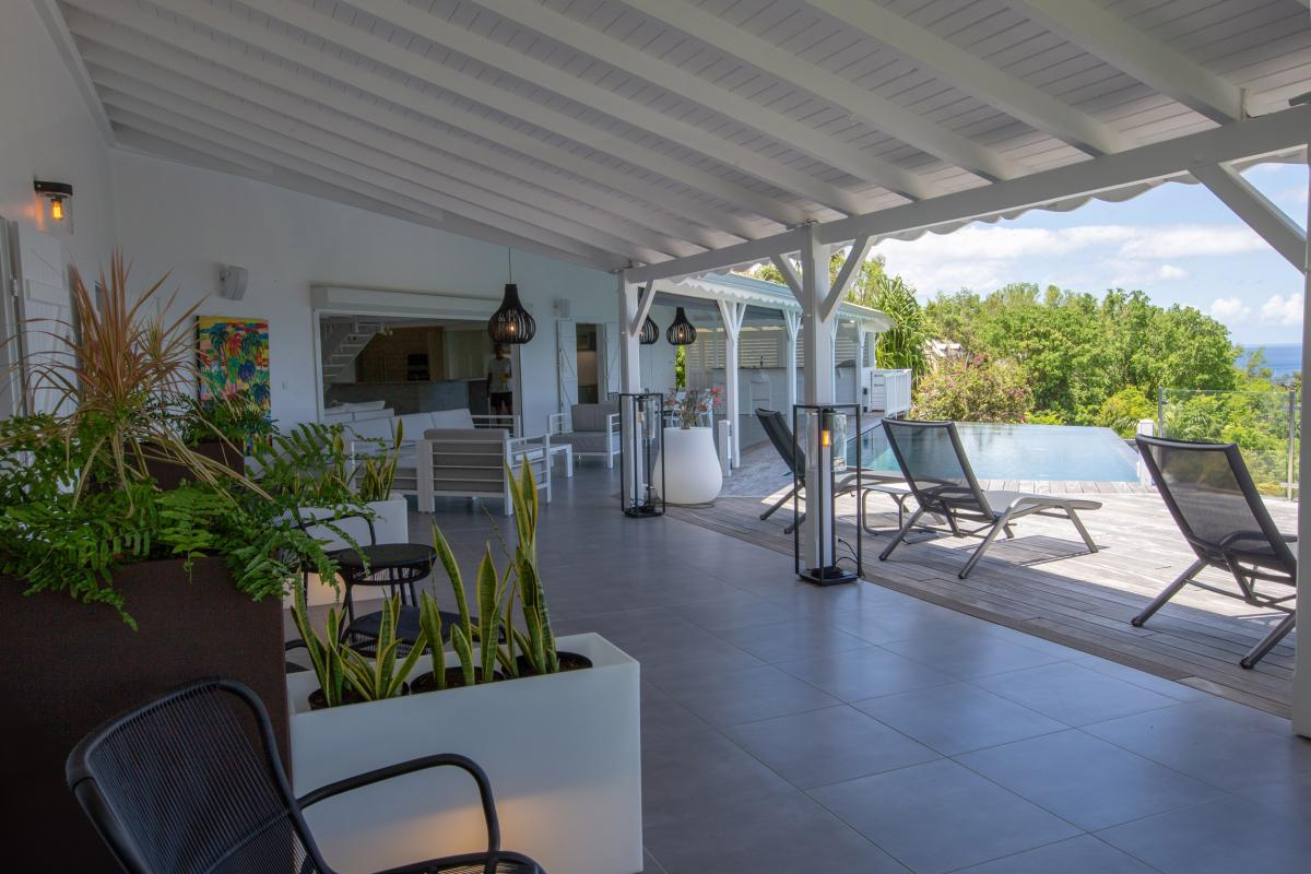 A louer villa à bouillante vue mer et coucher de soleil - Guadeloupe