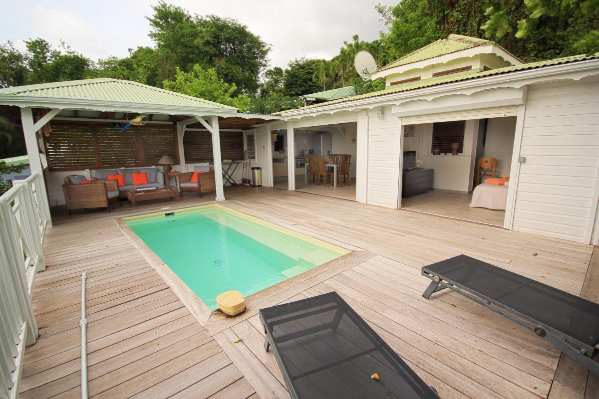 Location Villa Vue Mer Deshaies - terrasse