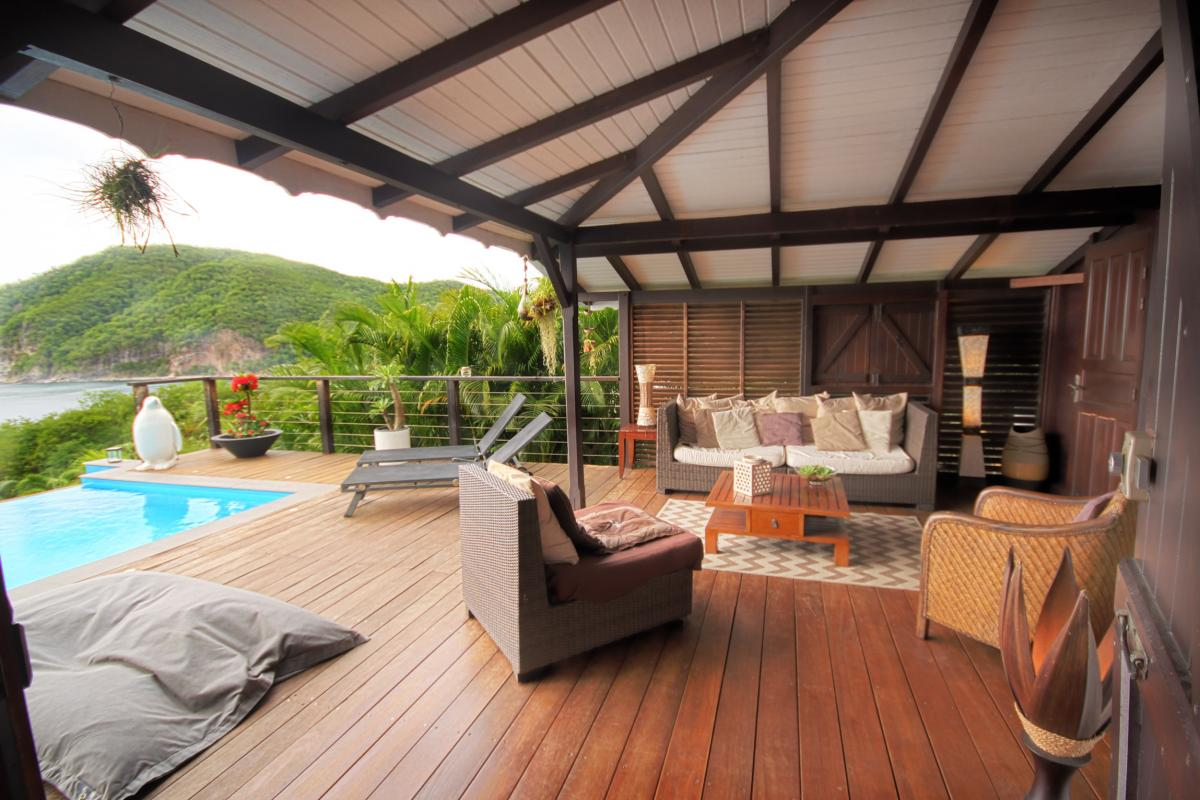 Location villa de charme à Dehaies - la terrasse