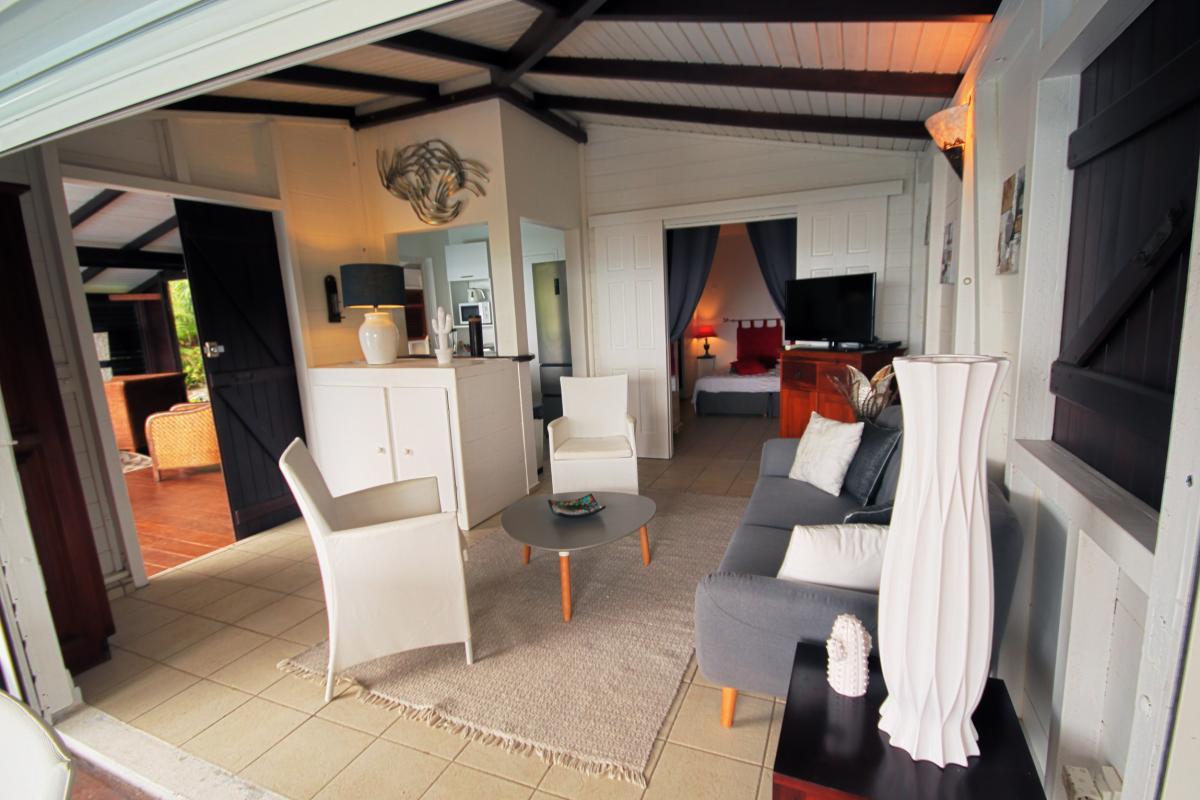Location villa de charme à Dehaies - le salon
