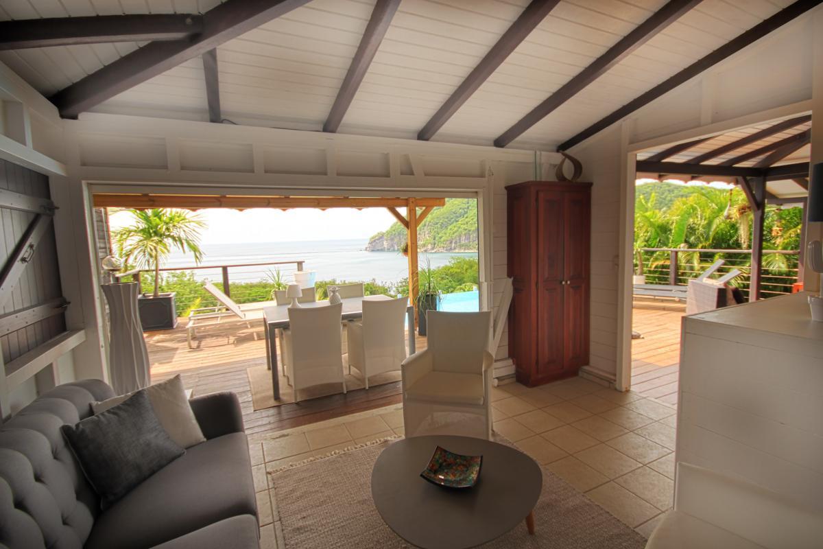 Location villa de charme à Dehaies - Le séjour