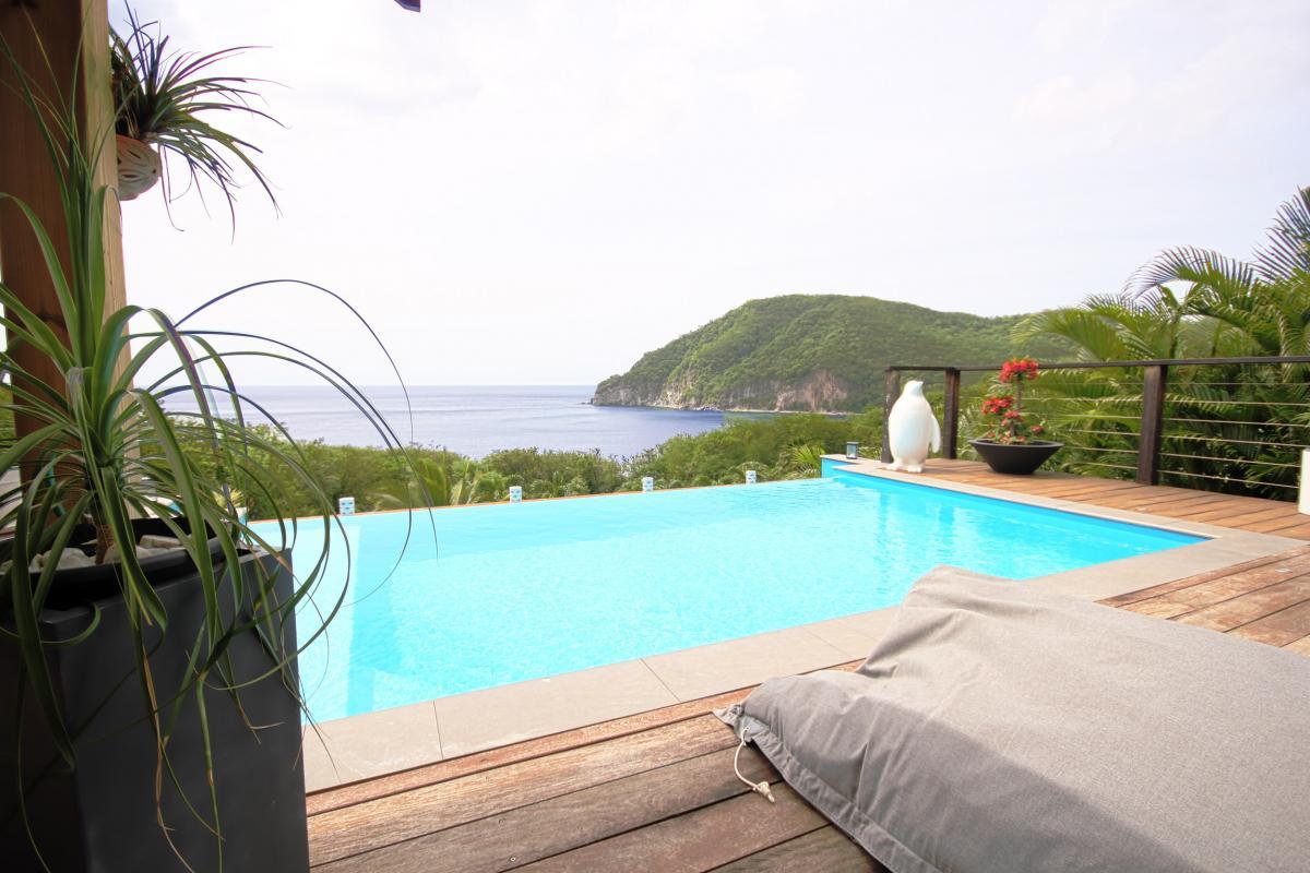 Location villa de charme à Dehaies - terrasse piscine