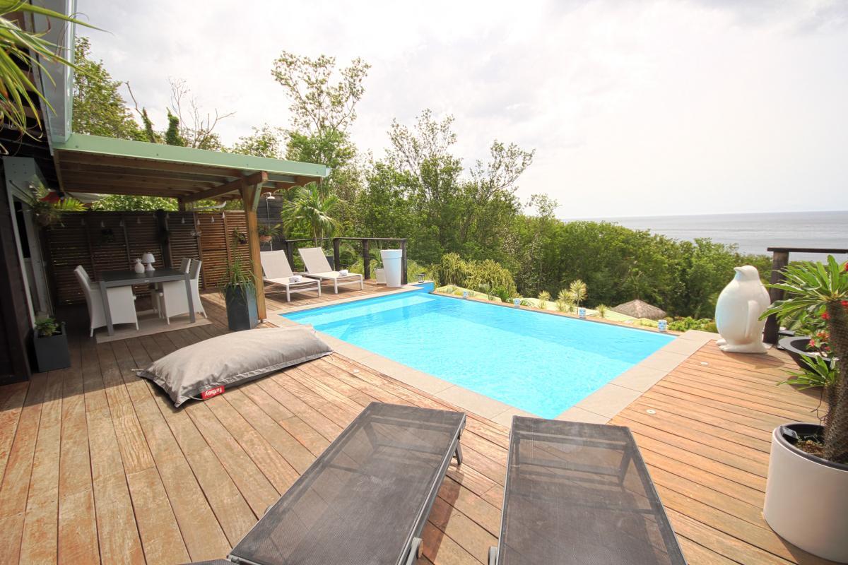 Location villa de charme à Dehaies - Vue de la terrasse