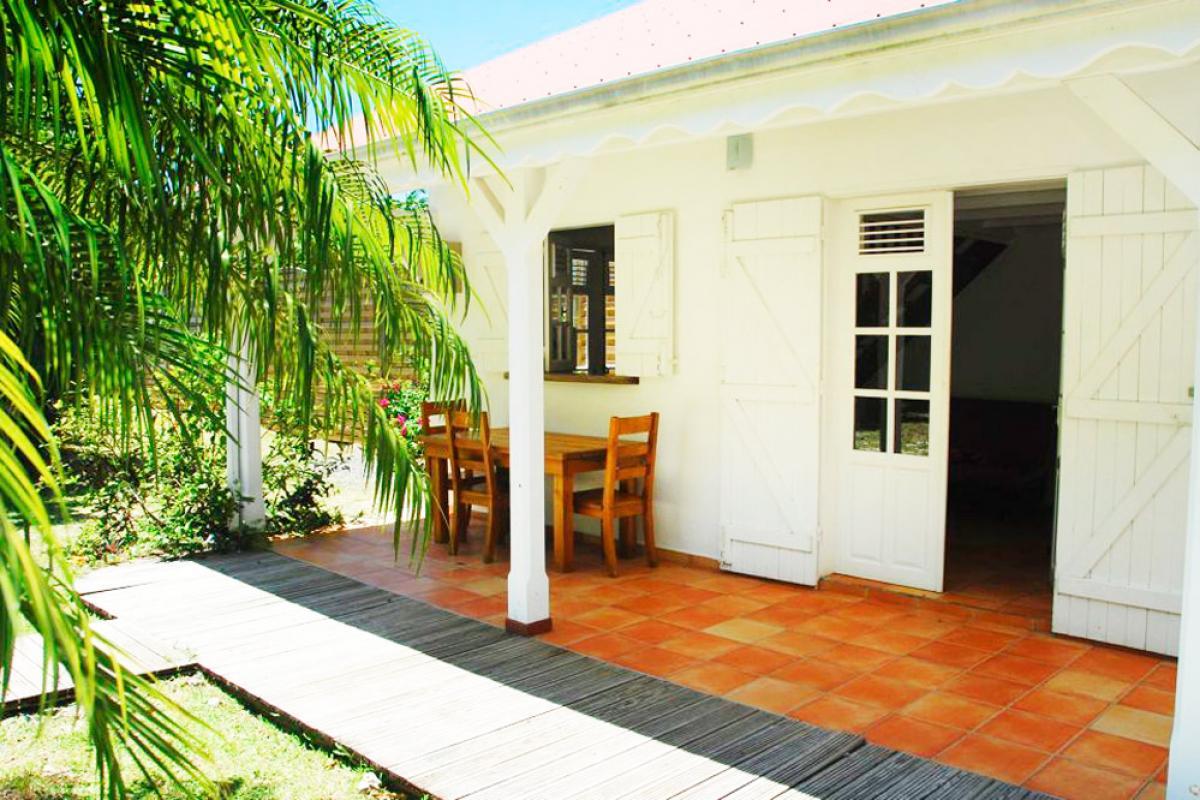 Location villa 100m de la plage - Terrasse Bougainvillier