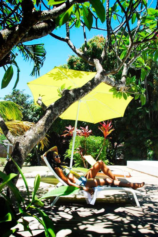 Location villa à 100m de la plage - Sieste sous le frangipanier
