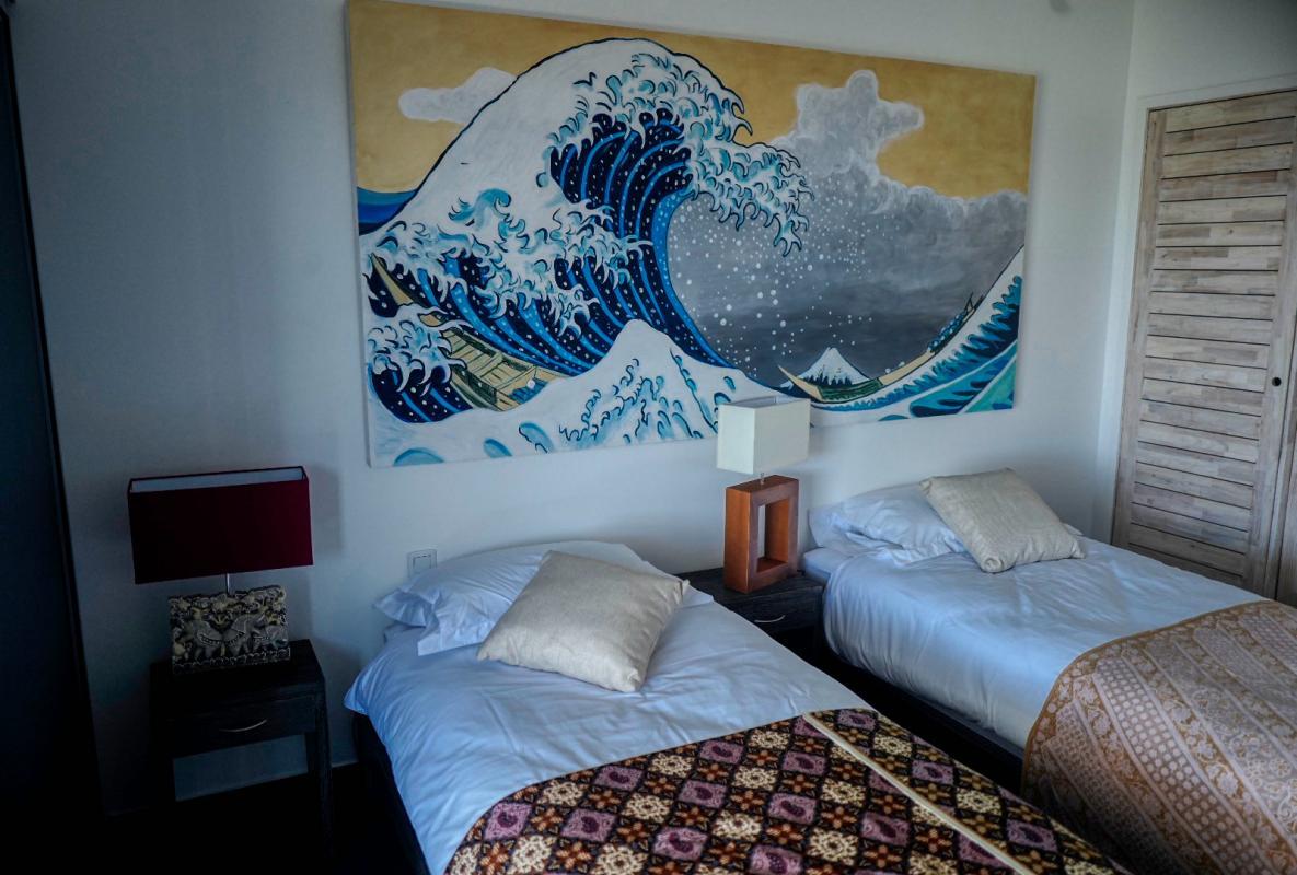 Villa à louer en Guadeloupe piscine et vue sur la mer - Chambre 4