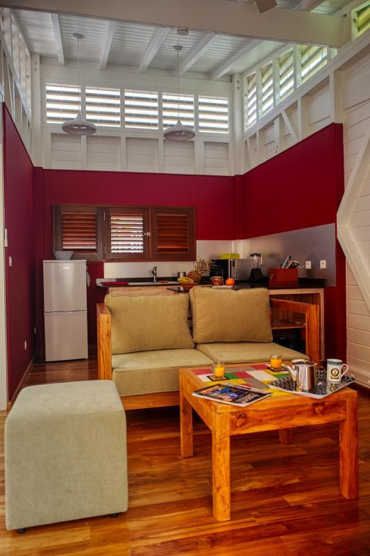 Villa à louer en Guadeloupe piscine et vue sur la mer - Salon