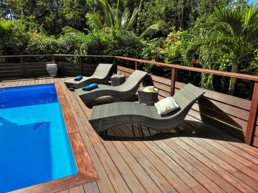Location villa 5 chambres 10 personnes avec piscine à Deshaies en Guadeloupe