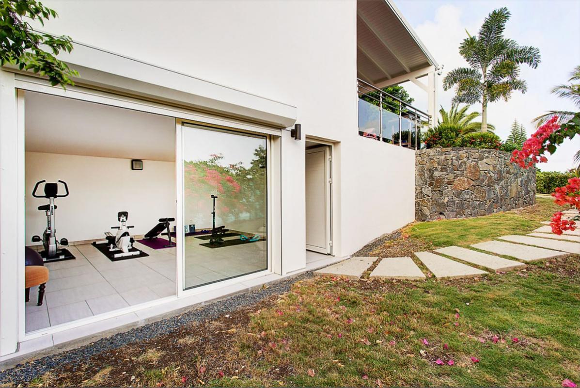 Villa d'exception à louer en Guadeloupe - Salle de sport