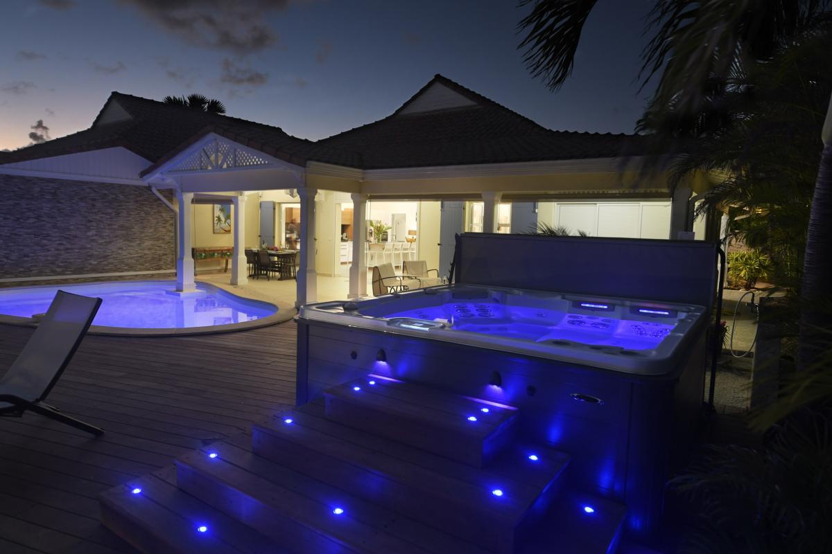 Villa Guadeloupe - Vue d'ensemble de nuit
