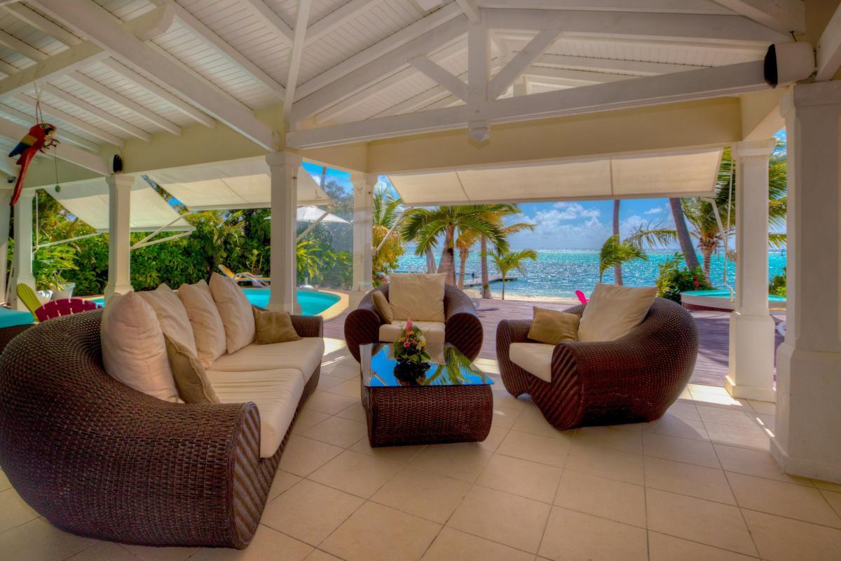Villa de luxe en Guadeloupe - Terrasse vue mer