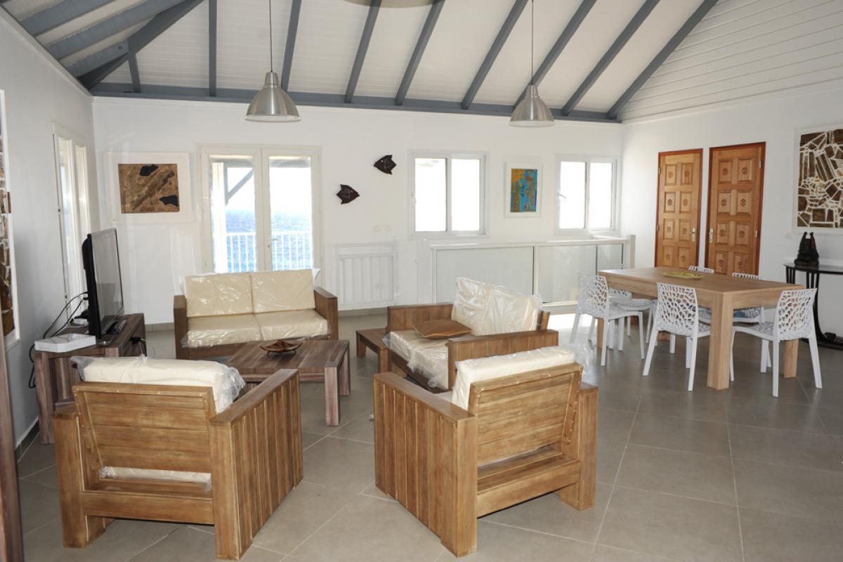 Location piscine vue mer Les Saintes - Le séjour