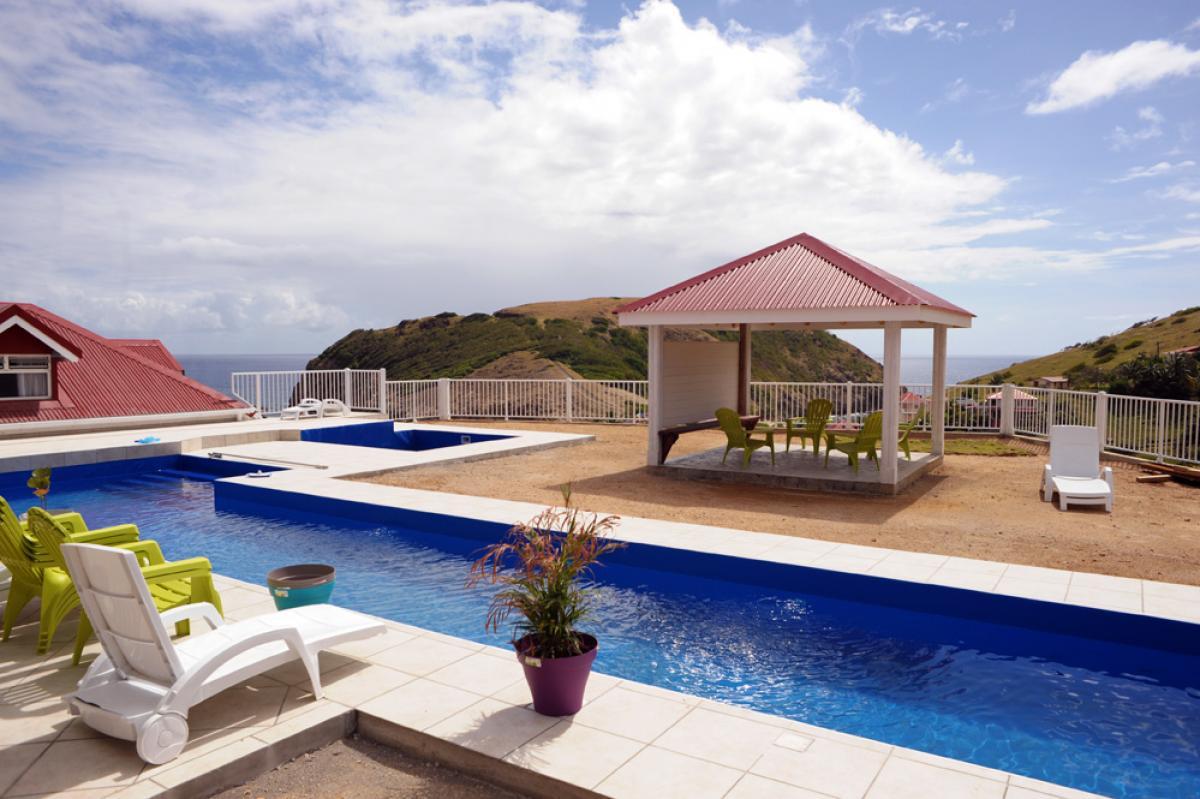 Location piscine vue mer Les Saintes - Vue Piscine