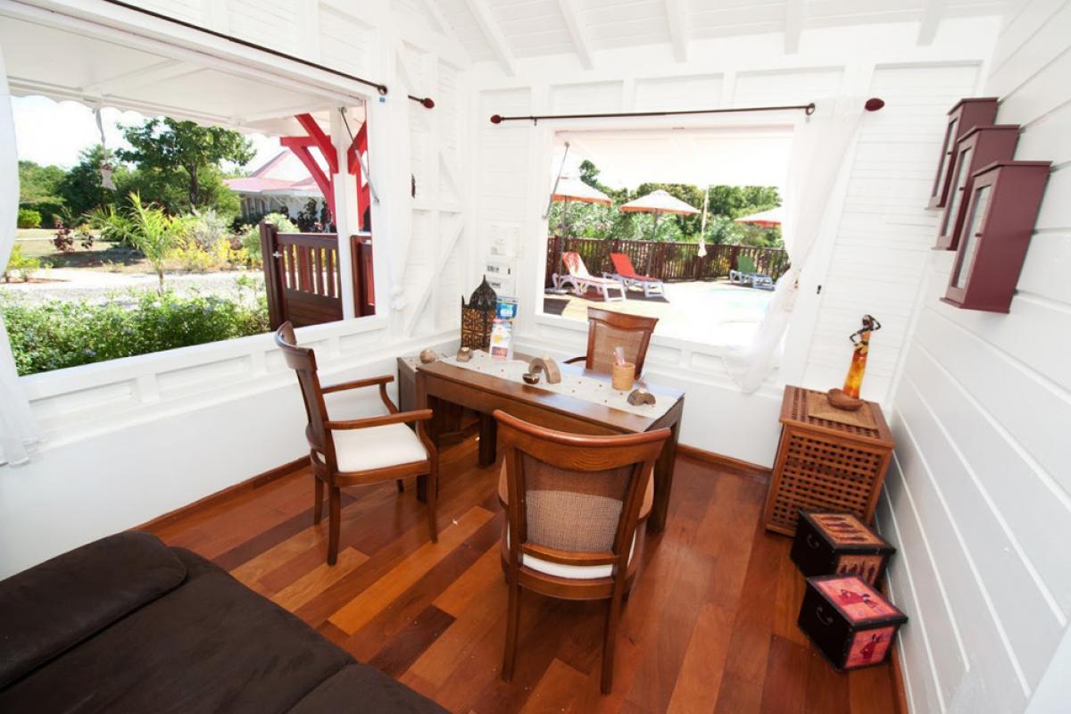 Villa en location avec jacuzzi - L'accueil